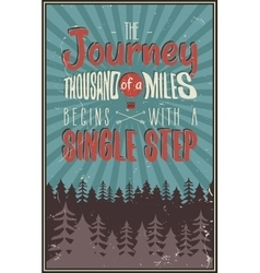 Retro travel typography poster with typographical vector