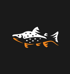 salmon fish logo fishing emblem vector image