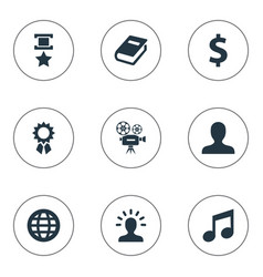 set of simple reward icons vector image