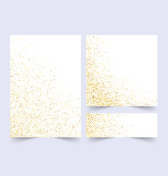 set white and gold banners greeting card or vector image