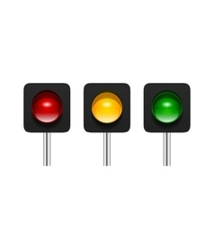 Single Aspect Traffic Lights vector image