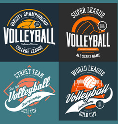 Sport t-shirt prints for volleyball players vector