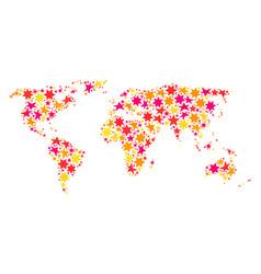 Star mosaic map of world vector