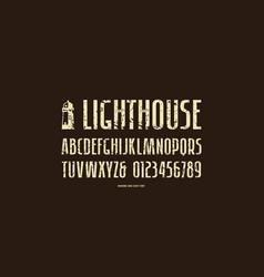 stock sans serif narrow font vector image