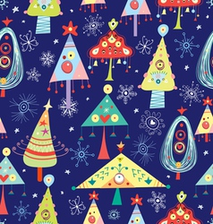 Texture of Christmas trees vector image