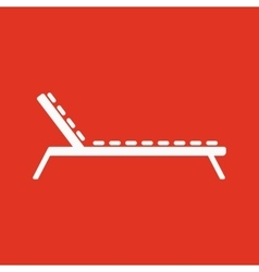 The lounger icon Sunbed symbol Flat vector image