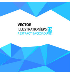 Triangular abstract background blue vector