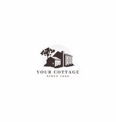 Vintage cottage logo vector