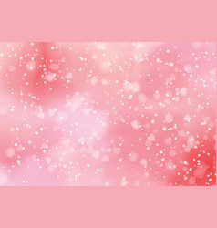 watercolor red and pink valentines day bokeh vector image