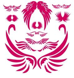Wings Digital Clipart 2 vector image