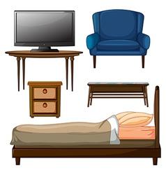 Wooden furnitures vector image