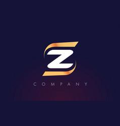 z letter logo design modern letter template vector image