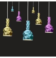 Abstract Lamp set vector image