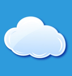 Cloud icon element vector image