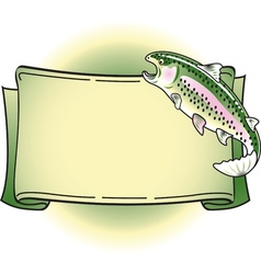 Rainbow trout banner vector image vector image