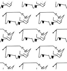 Seamless pattern of a stylized rhinoceros vector