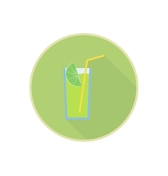 symbol of fresh green lemon juice cocktail vector image vector image