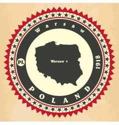 Vintage label-sticker cards of Poland vector image vector image