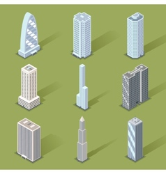 3D Skyscraper Graphic Designs vector image vector image