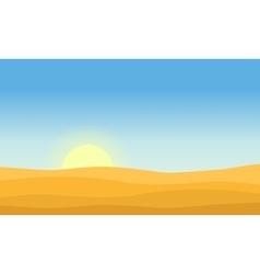 Art of desert at morning vector