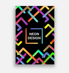 colorful with neon colors futuristic vector image vector image