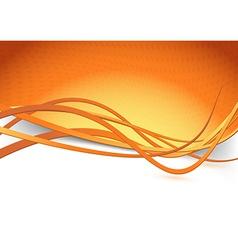 Orange swoosh speed wave background dot vector image vector image