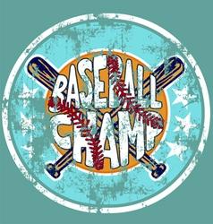 baseball champ vector image vector image