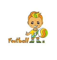 Cartoon Boy Football-Player vector image vector image