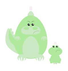crocodile and frog angry vector image
