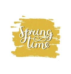 lettering Spring time vector image vector image