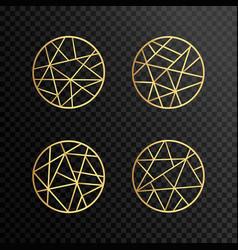 logo design geometric round gold logo vector image vector image