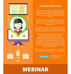 Webinare Distance Education and Learning Concept vector image