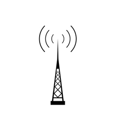 broadcasting antenna icon vector image