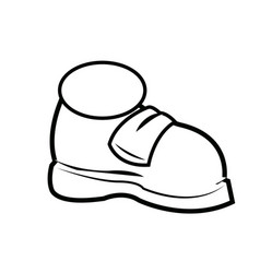 cartoon sneaker sport shoes over white background vector image