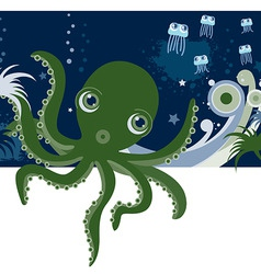 cartoons octopus vector image vector image