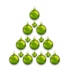Christmas tree made of glass balls isolated on vector image vector image
