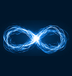 endless loop of moving energy particles vector image