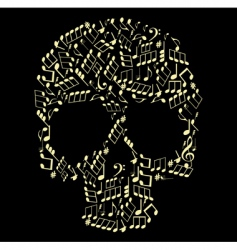 music skull vector image vector image