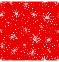 Seamless pattern of falling snowflakes vector image vector image