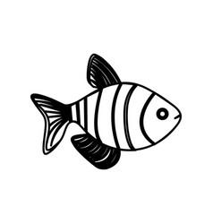 silhouette clownfish aquatic animal icon vector image vector image