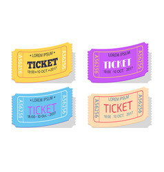 ticket to performance with date sign set vector image