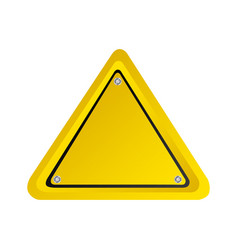 triangle emblem notice in blank vector image