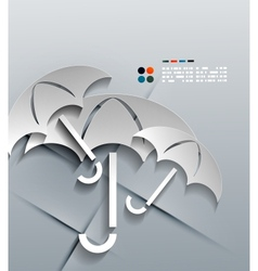3d paper umbrella modern design vector image