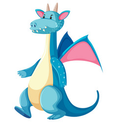 a blue dragon character vector image