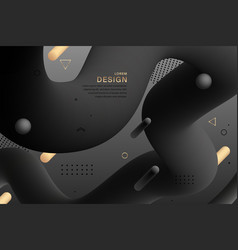 abstract black design gradient geometric colorful vector image