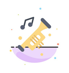 Accessories car horn noise trumpet abstract flat vector