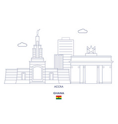 Accra city skyline vector