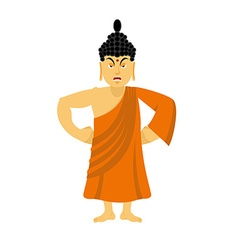 Angry Buddha furious Indian god wrathful Supreme vector