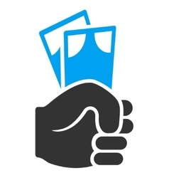 Banknotes Salary Hand Flat Icon vector