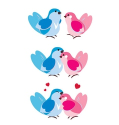 Bird Hugging vector image